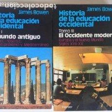Libros de segunda mano: HISTORIA DE LA EDUCACION OCCIDENTAL I EL MUNDO ANTIGUO Y III EL OCCIDENTE MODERNO - HERDER. Lote 83240012