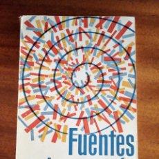 Libros de segunda mano: FUENTES DE ENERGÍA - AREVALO, JUAN Y MOLINER, MATILDE. Lote 134373510