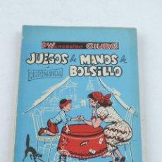 Libros de segunda mano: LIBRO JUEGOS DE MANOS DE BOLSILLO.TOMO II . AÑO 1961. POR P. WENCESLAO CIURÓ. TOMO II. AÑO 1961. TIE. Lote 134374886