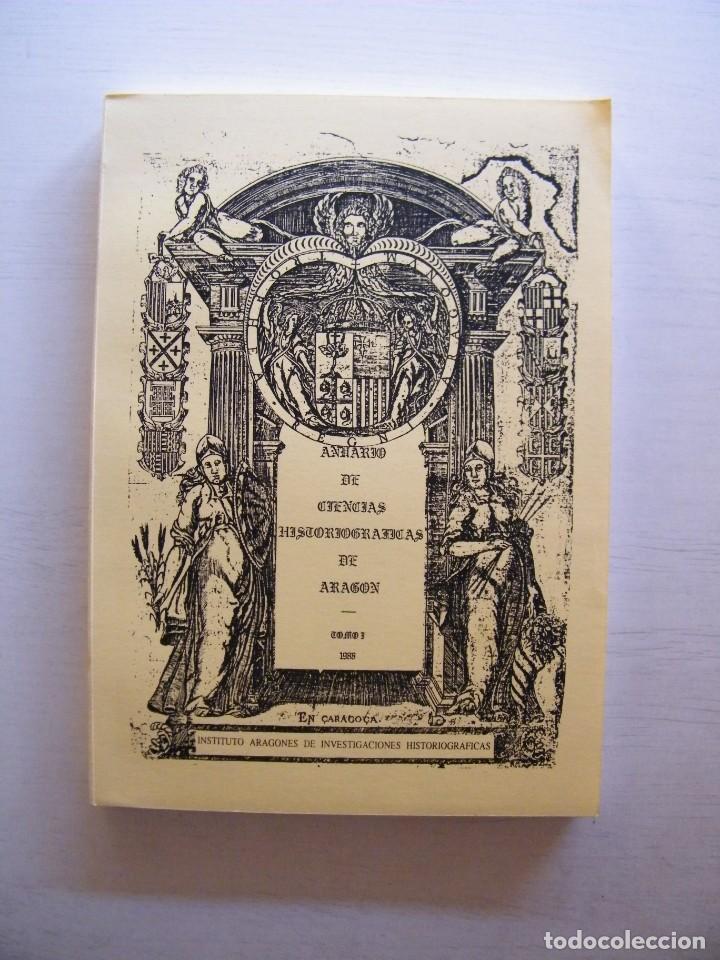 Libros de segunda mano: ANUARIO DE CIENCIAS HISTÓRICAS DE ARAGÓN (VIII TOMOS) - INST. ARAGONÉS DE INVESTIGACIONES HISTÓRICAS - Foto 3 - 134414366