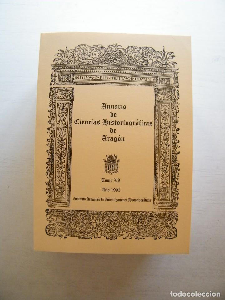 Libros de segunda mano: ANUARIO DE CIENCIAS HISTÓRICAS DE ARAGÓN (VIII TOMOS) - INST. ARAGONÉS DE INVESTIGACIONES HISTÓRICAS - Foto 7 - 134414366