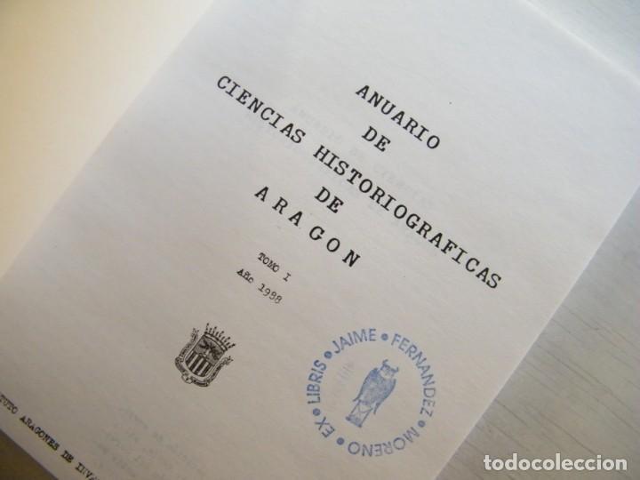 Libros de segunda mano: ANUARIO DE CIENCIAS HISTÓRICAS DE ARAGÓN (VIII TOMOS) - INST. ARAGONÉS DE INVESTIGACIONES HISTÓRICAS - Foto 10 - 134414366