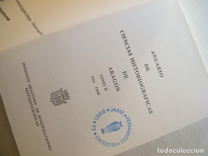 Libros de segunda mano: ANUARIO DE CIENCIAS HISTÓRICAS DE ARAGÓN (VIII TOMOS) - INST. ARAGONÉS DE INVESTIGACIONES HISTÓRICAS - Foto 11 - 134414366