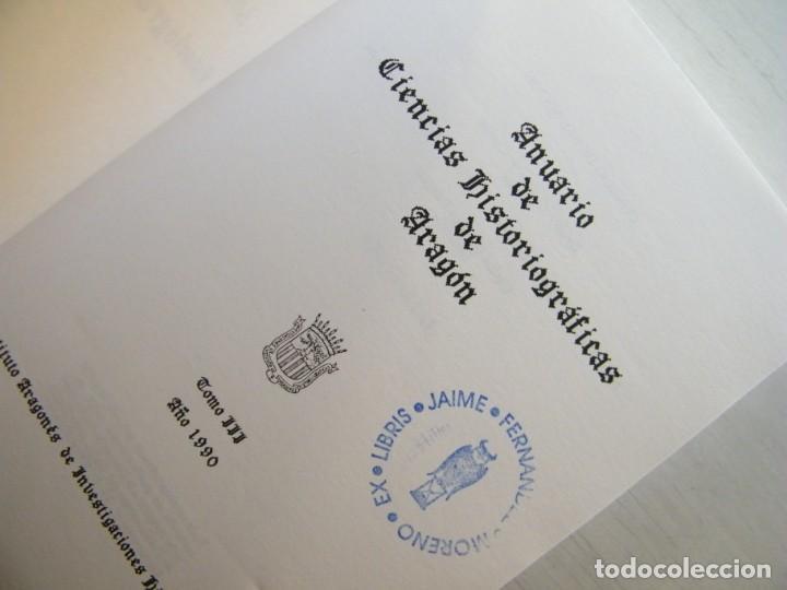 Libros de segunda mano: ANUARIO DE CIENCIAS HISTÓRICAS DE ARAGÓN (VIII TOMOS) - INST. ARAGONÉS DE INVESTIGACIONES HISTÓRICAS - Foto 12 - 134414366