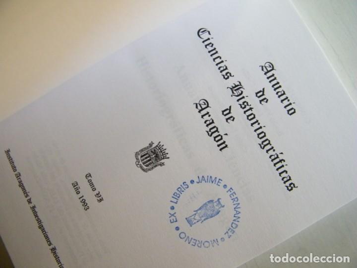 Libros de segunda mano: ANUARIO DE CIENCIAS HISTÓRICAS DE ARAGÓN (VIII TOMOS) - INST. ARAGONÉS DE INVESTIGACIONES HISTÓRICAS - Foto 15 - 134414366
