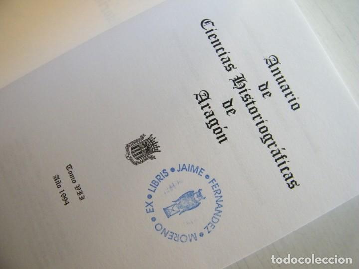 Libros de segunda mano: ANUARIO DE CIENCIAS HISTÓRICAS DE ARAGÓN (VIII TOMOS) - INST. ARAGONÉS DE INVESTIGACIONES HISTÓRICAS - Foto 16 - 134414366