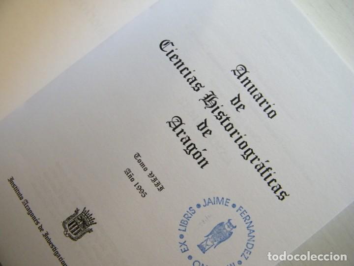 Libros de segunda mano: ANUARIO DE CIENCIAS HISTÓRICAS DE ARAGÓN (VIII TOMOS) - INST. ARAGONÉS DE INVESTIGACIONES HISTÓRICAS - Foto 17 - 134414366