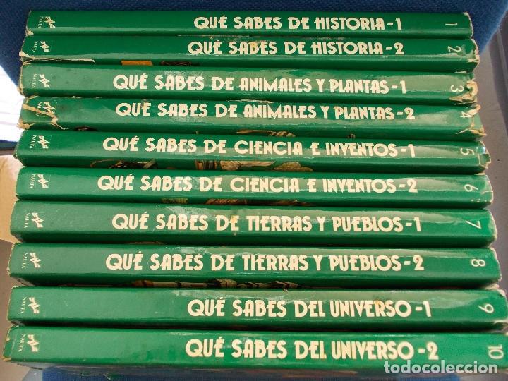 QUE SABES EDICIONES NAUTA 10 VOLUMENES (Libros de Segunda Mano - Literatura Infantil y Juvenil - Otros)