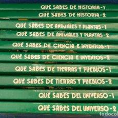 Libros de segunda mano: QUE SABES EDICIONES NAUTA 10 VOLUMENES. Lote 134530814