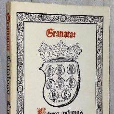 Libros de segunda mano: LIBROS ANTIGUOS GRANATA.- CATÁLOGO EUROPA.-SIGLOS XV A XIX. Lote 134719514