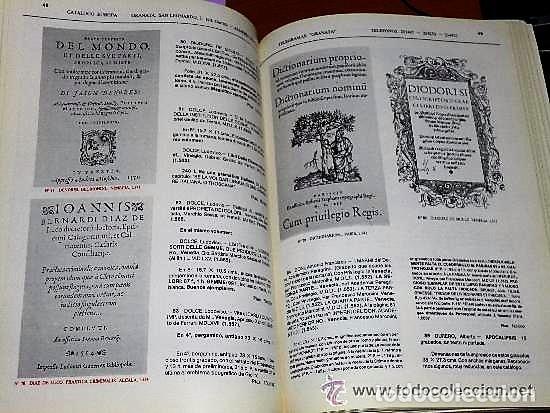Libros de segunda mano: LIBROS ANTIGUOS GRANATA.- CATÁLOGO EUROPA.-SIGLOS XV A XIX - Foto 6 - 134719514