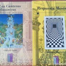 Libros de segunda mano: LAS CANTERAS MASONICAS-Y RESPUESTA MASONICA-AMANDO HURTADO Y LEON ZELDIS-EDIT. KOMPAS1997-1998-NUEV . Lote 134740014