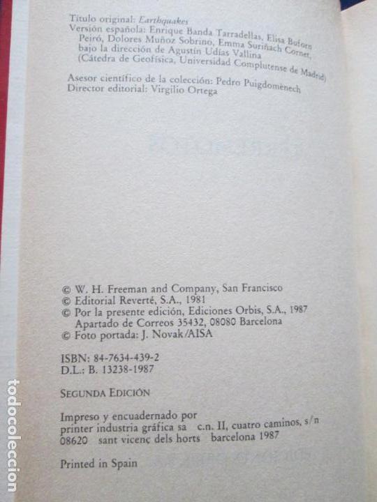 Libros de segunda mano: LIBRO-TERREMOTOS-MUY INTERESANTE-BRUCE A.BOLT-Nº38-ORBIS-2ªEDICIÓN-DIVULGACIÓN CIENTIFICA-BUEN ESTAD - Foto 5 - 134806470