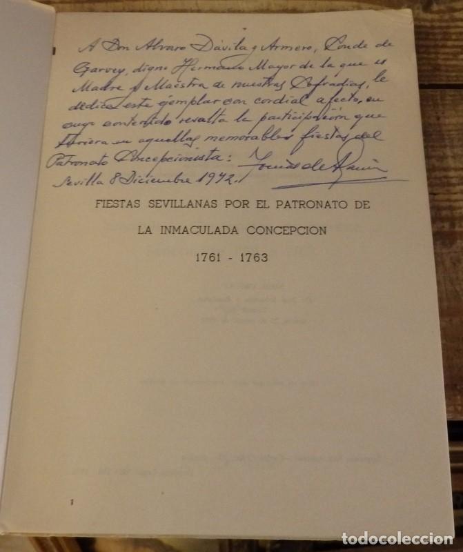 Libros de segunda mano: Fiestas por el Patronato Concepcionista, 1761-1763. - GARCÍA Y GARCÍA, Tomás de. DEDICADO POR EL AUT - Foto 2 - 153391096