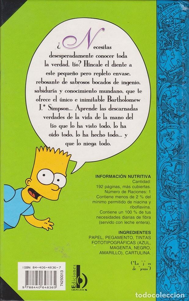 Libros de segunda mano: Bart Simpson · Guía para la Vida (Matt Groening) - Libro - Foto 2 - 50425538