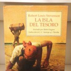 Libros de segunda mano: LIBRO LA ISLA DEL TESORO,STEVENSON,ILUSTRADO ROBERT INGPEN,1°ED.1992 VICENS VIVES. Lote 135046582