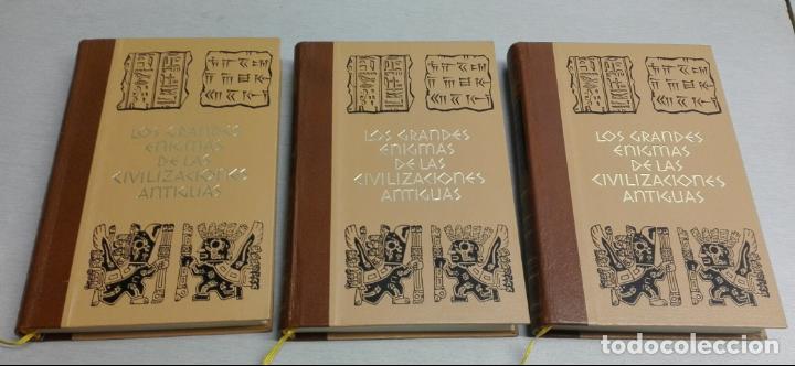 LOS GRANDES ENIGMAS DE LAS CIVILIZACIONES ANTIGUAS / 3 TOMOS / CÍRCULO AMIGOS DE LA HISTORIA (Libros de Segunda Mano - Historia - Otros)