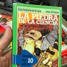 Libros de segunda mano: LA PIEDRA DE LA CIENCIA. LIBRO JUEGO LOBO SOLITARIO 6. ALTEA JUNIOR - PERFECTO. Lote 135132142