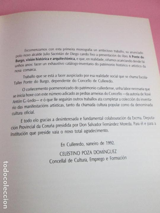 Libros de segunda mano: LIBRO-AS PEDRAS ARMEIRAS-XOSÉ ANTÓN GARCÍA GONZÁLEZ LEDO-CATÁLOGO/INVENTARIO DE CULLEREDO - Foto 13 - 135276894