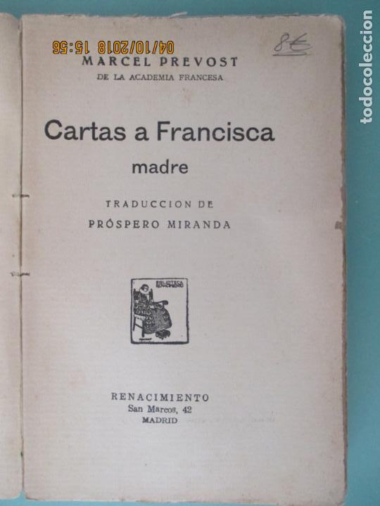 Libros de segunda mano: MARCEL PREVOST. CARTAS A FRANCISCA MADRE. TRADUCCIÓN DE PRÓSPERO MIRANDA. MADRID. - Foto 2 - 135329466