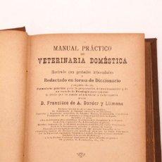 Libros de segunda mano: FRANCISCO DARDER - MANUAL PRACTICO DE VETERINARIA - CONSERVA EL DESPLEGABLE. Lote 135359078