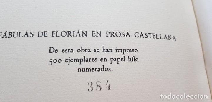 Libros de segunda mano: FABULAS ESCOGIDAS DE FLORIAN. 500 EJEMPLARES. BONITA ENCUADERNACIÓN. - Foto 6 - 135360482