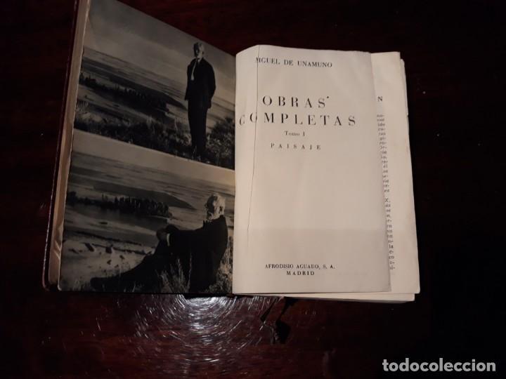 Libros de segunda mano: OBRAS COMPLETAS DE MIGUEL DE UNAMUNO .COLECCION PARADILLA DEL ALCOR .TOMO I .AÑO 1951 . - Foto 4 - 135370766