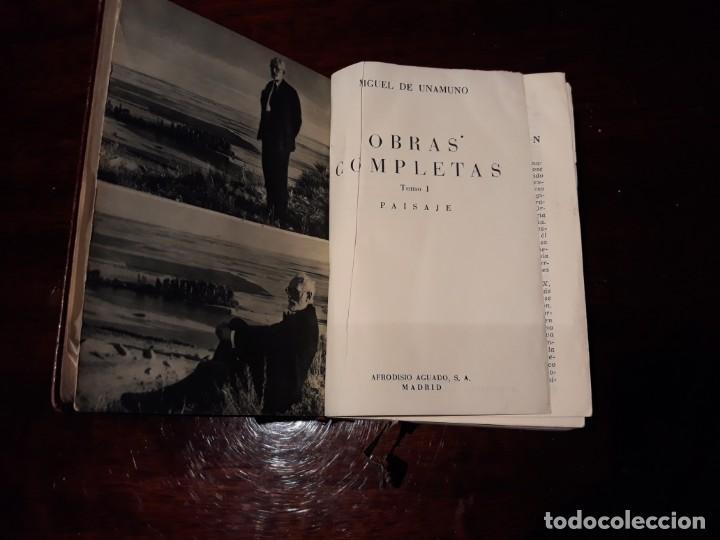 Libros de segunda mano: OBRAS COMPLETAS DE MIGUEL DE UNAMUNO .COLECCION PARADILLA DEL ALCOR .TOMO I .AÑO 1951 . - Foto 5 - 135370766
