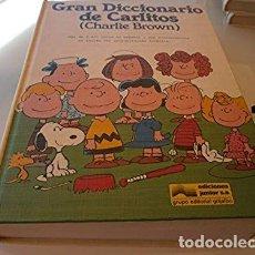 Libros de segunda mano: GRAN DICCIONARIO DE CARLITOS (CHARLIE BROWN) - CHARLES SCHULZ.- E. GRIJALBO, 1996.. Lote 135401298
