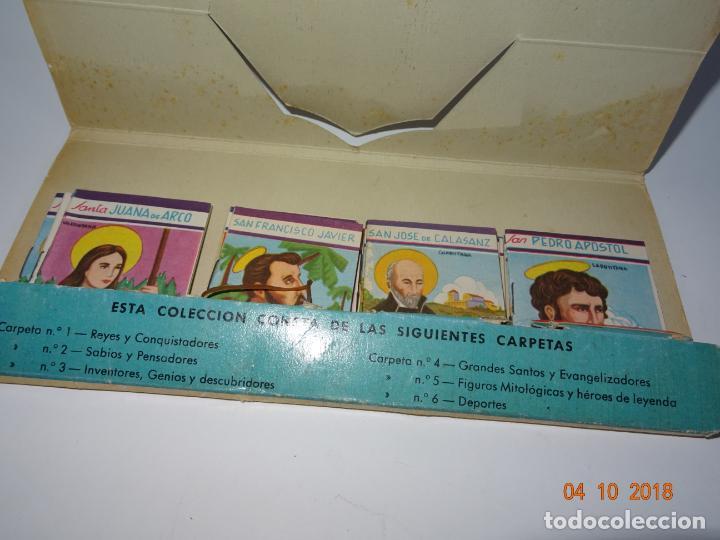 Libros de segunda mano: Antigua *CARPETA DE CELEBRIDADES - SANTOS Y EVANGELIZADORES* 23 Tomitos Edit. ROMA Año 1961 - Foto 7 - 135620918