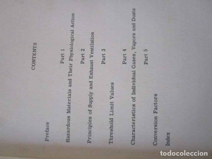 Libros de segunda mano: VAPORES PELIGROSOS Y POLVO EN LA INDUSTRIA libro muy antiguo raro rareza - Foto 5 - 135734279