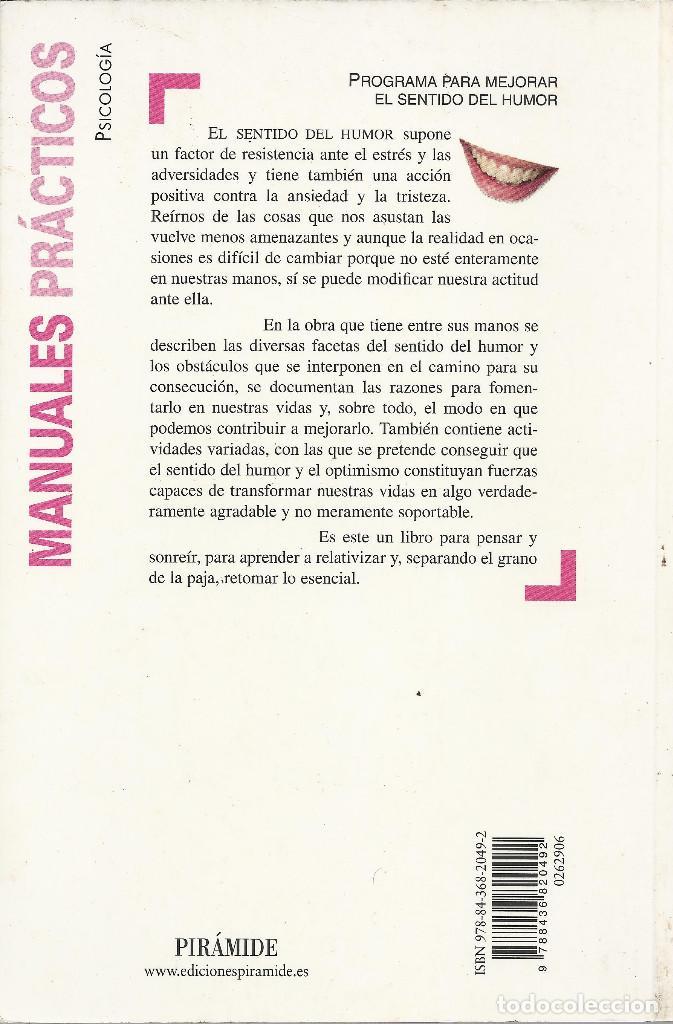 Libros de segunda mano: Begoña García Larrauri-Programa para mejorar el sentido del humor.Pirámide.2008. - Foto 2 - 135947370
