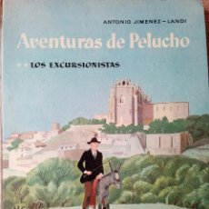 Libros de segunda mano: AVENTURAS DE PELUCHO **LOS EXCURSIONISTAS -ESPAÑA CONTADA A LOS NIÑOS - AGUILAR - 1959 (ENVÍO 4,31€). Lote 136041962