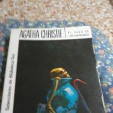 Libros de segunda mano: LIBRO/NOVELA NÚM 296.- EL CASO DE LOS ANONIMOS DE AGATHA CHRISTIE. Lote 136178120