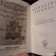 Libros de segunda mano: COLECCION CRISOL Nº- 80 - REFRANERO ESPAÑOL - AÑO 1944 1º EDICION. Lote 136204242