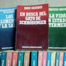 Libros de segunda mano: 1985 LOTE DE 19 LIBROS DE LA BIBLIOTECA CIENTIFICA SALVAT , QUIMICA. Lote 136256174