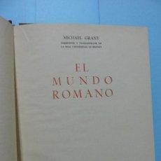 Libros de segunda mano: EL MUNDO ROMANO. GRANT, MICHAEL. ED. GUADARRAMA. MADRID 1960. Lote 136331638