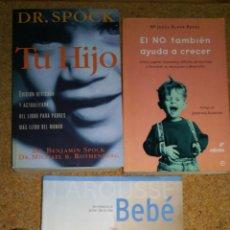 Libros de segunda mano: LOTE DE 3 LIBROS AYUDA PARA HIJO BEBES. Lote 136357498