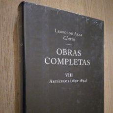 Libros de segunda mano: LEOPOLDO ALAS CLARÍN. OBRAS COMPLETAS VIII ARTICULOS (1891-1894). NOBEL. Lote 136422062