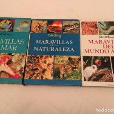 Libros de segunda mano: LOTE MARAVILLAS DEL MAR, NATURALEZA Y MUNDO ANIMAL - DISNEY, WALT . Lote 136431246