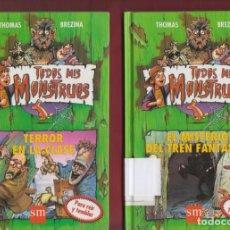 Libros de segunda mano: COLECCIÓN TODOS MIS MONSTRUOS, POR: THOMAS BREZINA. 4 TOMOS. EDICIONES: SM. LL2686. Lote 136450466