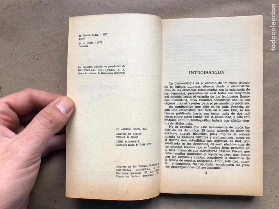 Libros de segunda mano: DEMONOLOGIA. DAVID ORDAZ. EDITORIAL BRUGUERA 1977. - Foto 3 - 136488416