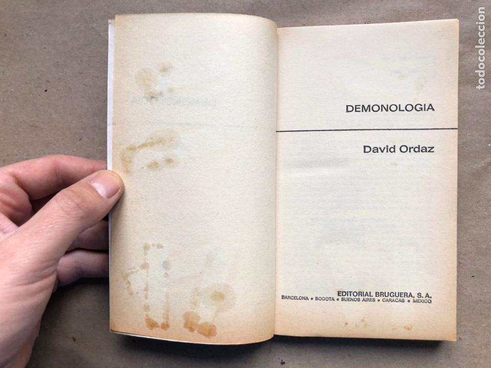 Libros de segunda mano: DEMONOLOGIA. DAVID ORDAZ. EDITORIAL BRUGUERA 1977. - Foto 2 - 136488416