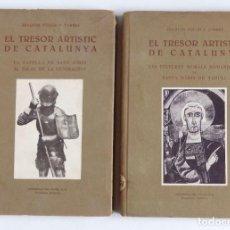 Libros de segunda mano: EL TRESOR ARTÍSTIC DE CATALUNYA – 2 VOLUMS - PINTURES MURALS DE TAHULL, CAPELLA PALAU GENERALITAT. Lote 136507630