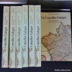 Libros de segunda mano: XOSÉ FARIÑA JAMARDO - OS CONCELLOS GALEGOS 10 TOMOS GALICIA. Lote 136522482