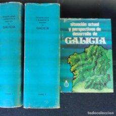 Libros de segunda mano: SITUACIÓN ACTUAL Y PERSPECTIVAS DE DESARROLLO DE GALICIA 3 TOMOS CAIXA GALICIA. Lote 136522654