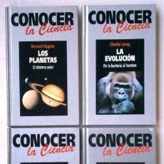 Libros de segunda mano: LOTE CONOCER LA CIENCIA 4T POR JORGE WAGENSBERG DE ED. RBA EN BARCELONA 1994. Lote 136667454