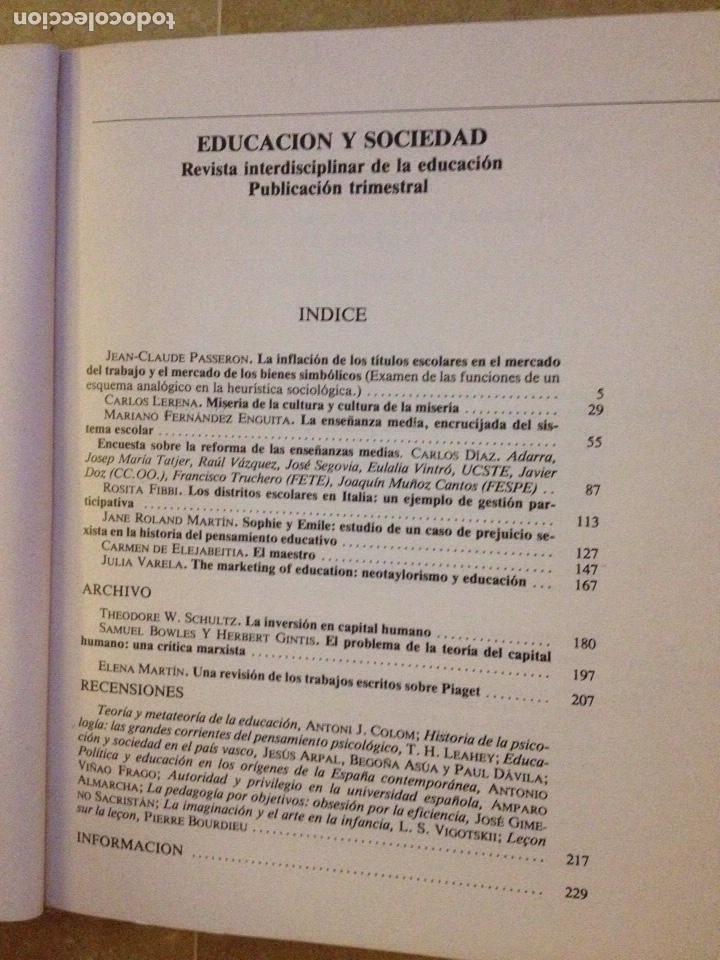 Libros de segunda mano: Educación y sociedad 1 (AKAL) Schultz, Jane Roland, Jean Claude Passeron - Foto 2 - 136774409