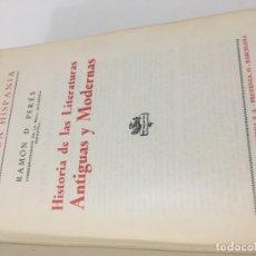 Libros de segunda mano: HISTORIA DE LAS LITERATURAS ANTIGUAS Y MODERNAS. Lote 136828490