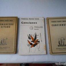 Libros de segunda mano: LOTE DE LIBROS FEDERICO GARCIA LORCA DE EDITORIAL LOSADA. Lote 136878202